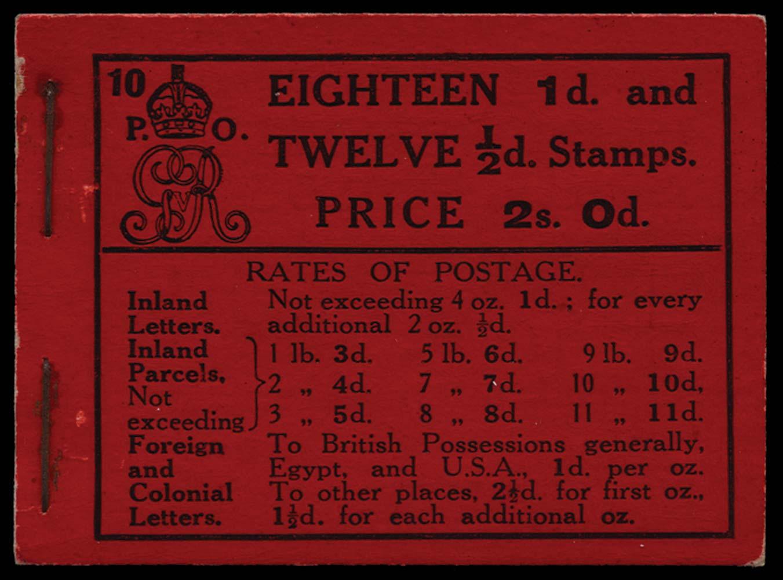 GB 1913  SGBB6 Booklet (Edition 10)