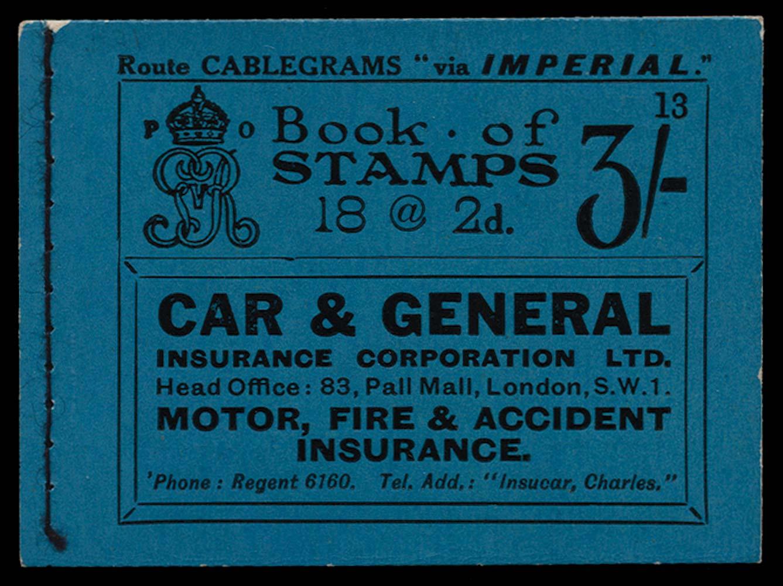 GB 1921  SGBB21 Booklet (Edition 13)