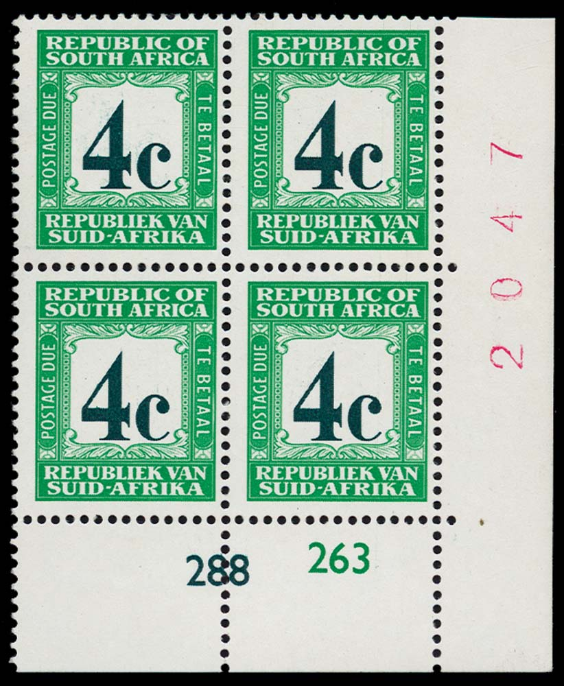 SOUTH AFRICA 1967-71  SGD62b Postage Due