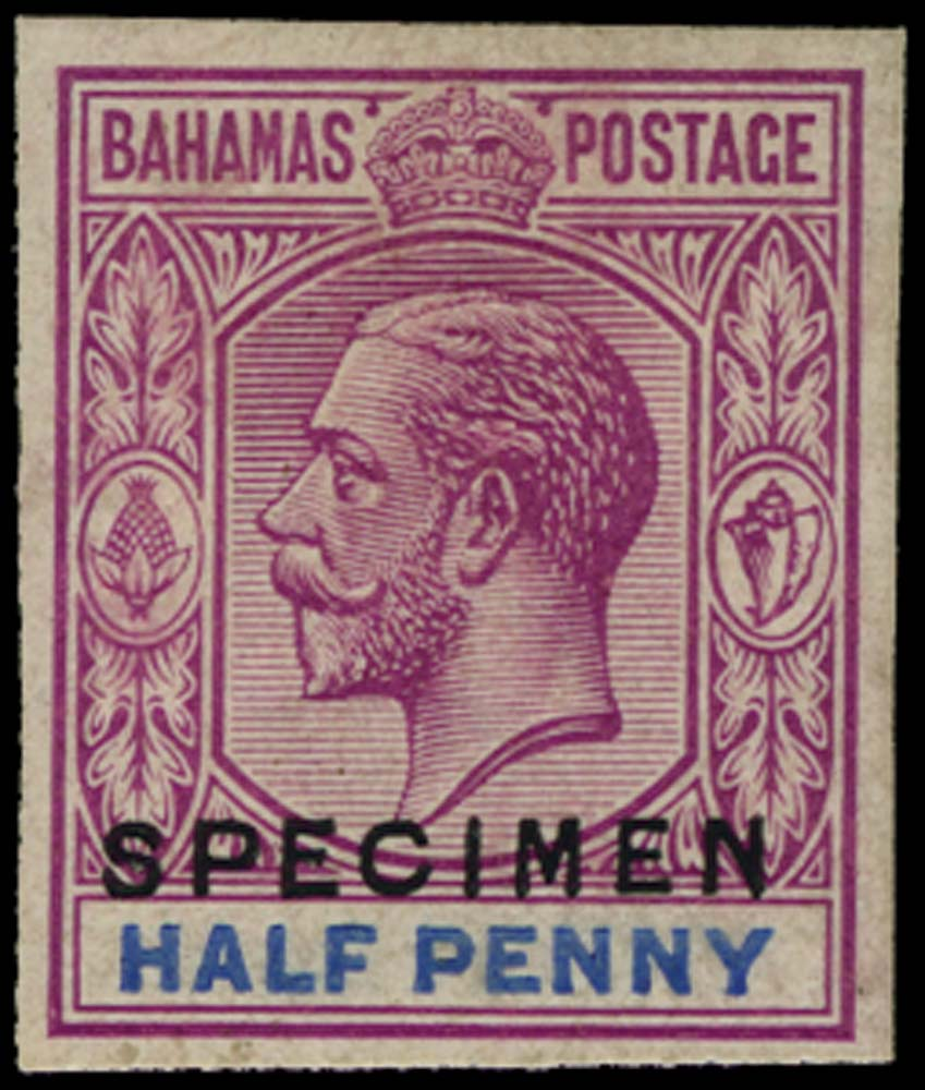 BAHAMAS 1922  SG81 Proof