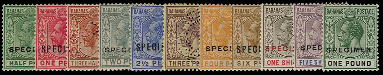 BAHAMAS 1921  SG115s/25s Specimen