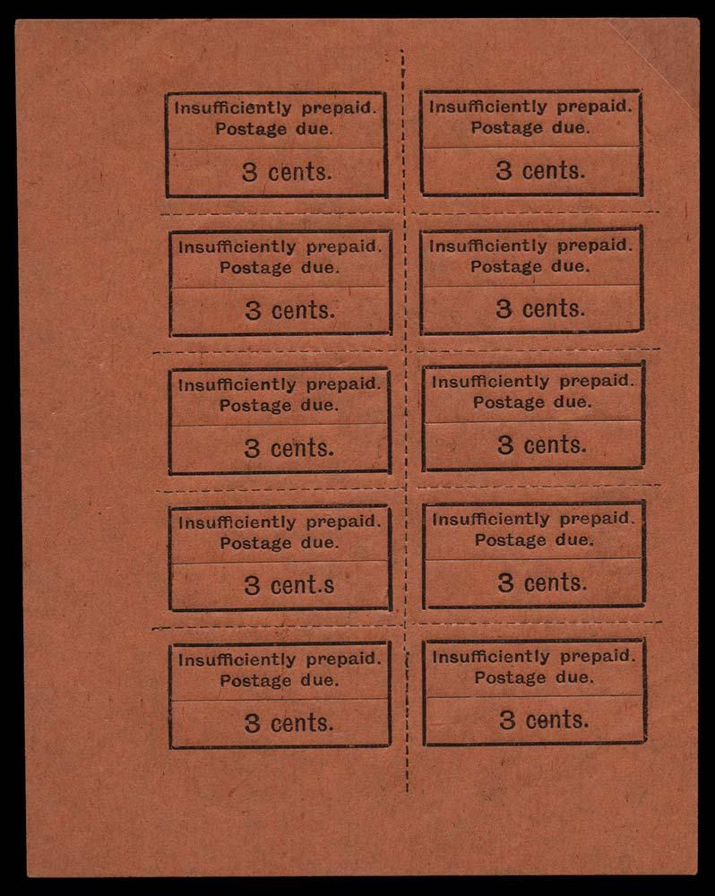 ZANZIBAR 1926  SGD3/a Postage Due