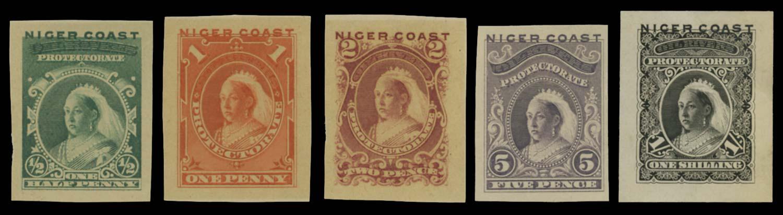 NIGER COAST 1894  SG45/7, 49/50 Proof
