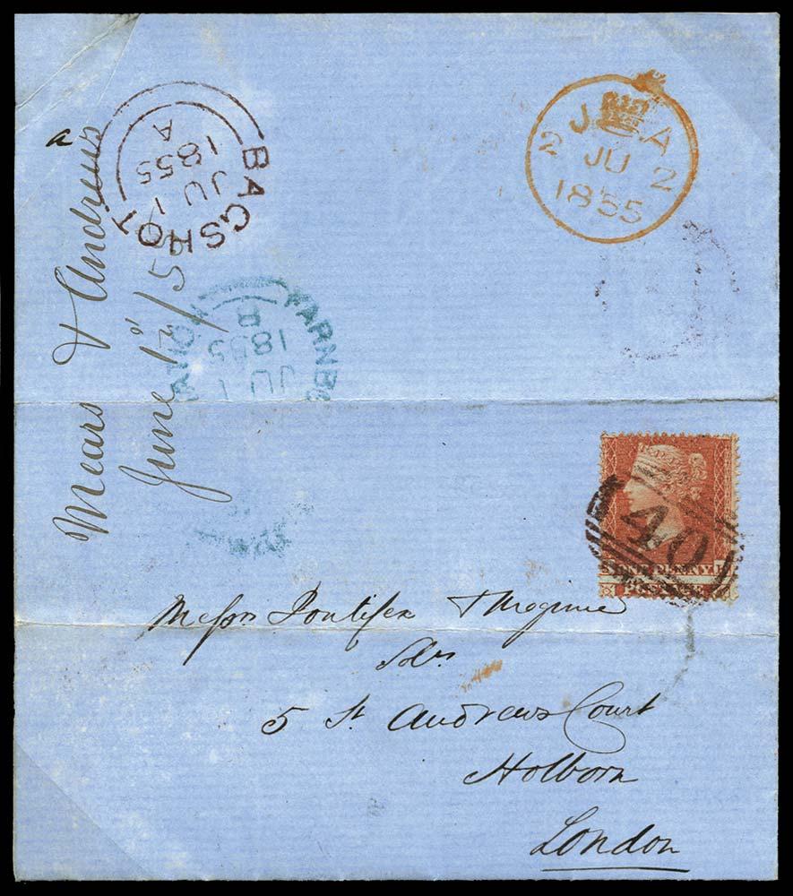 GB 1855  SG21 Pl.2 Cover