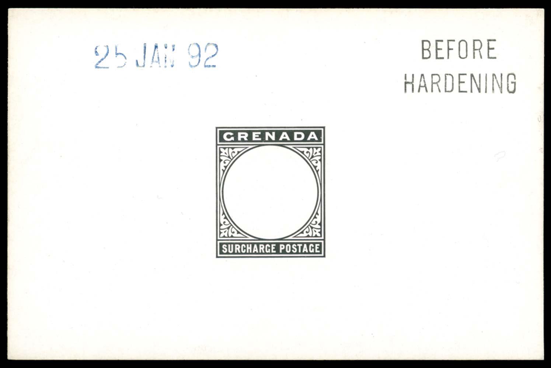 GRENADA 1892  SGD1/3 Proof