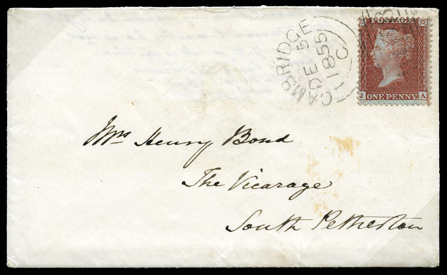 GB 1855  SG29var Pl.8 Cover