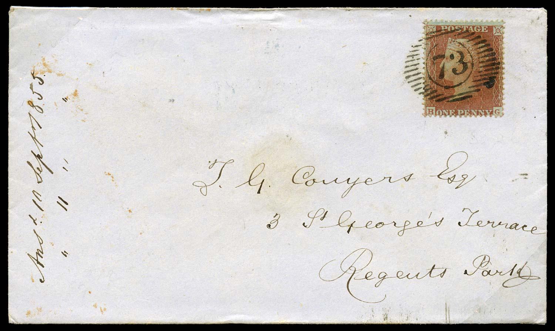 GB 1855  SG26 Pl.9 Cover