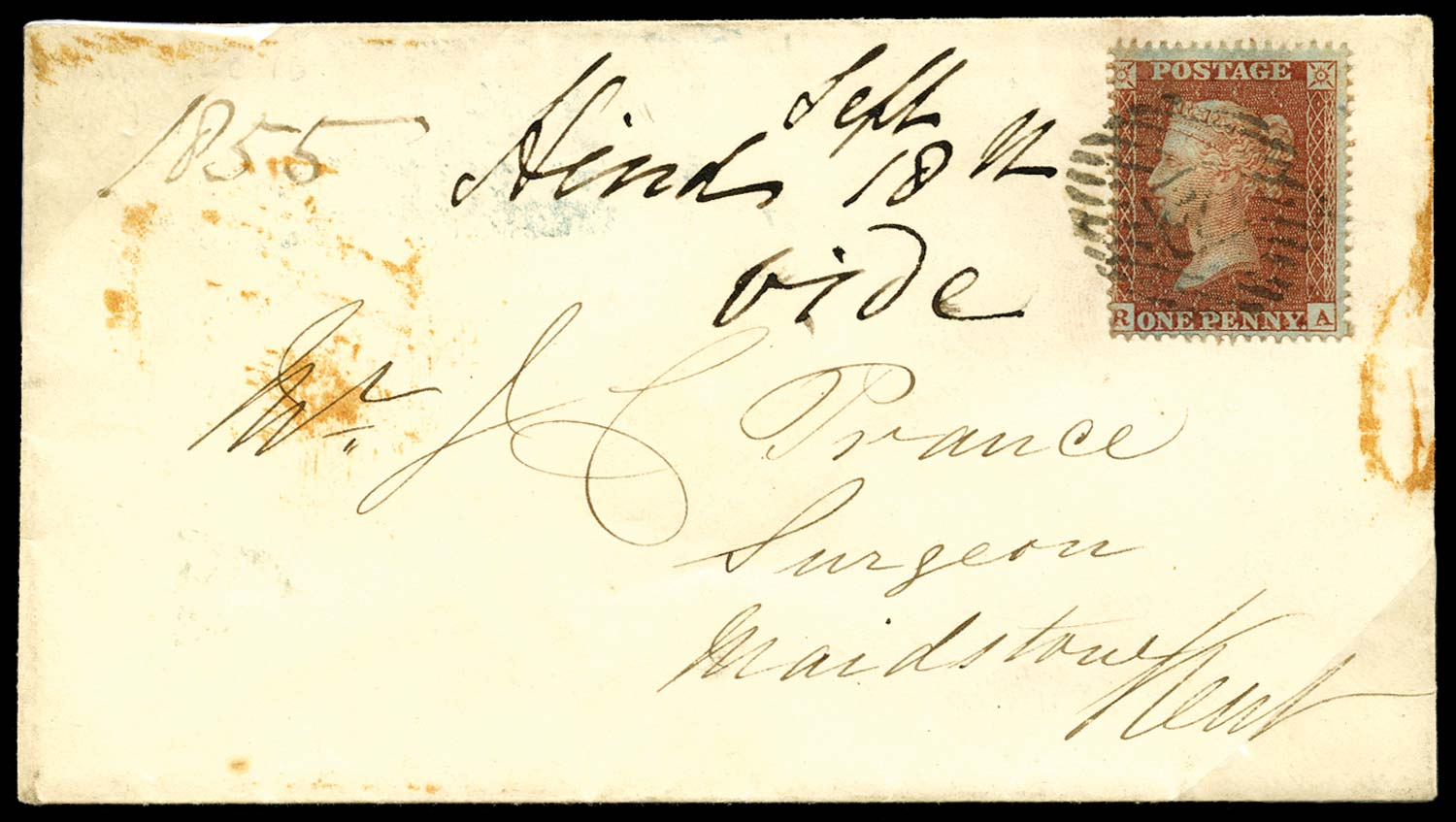 GB 1855  SG26 Pl.9 Cover