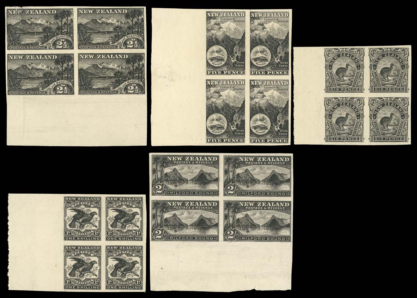 NEW ZEALAND 1899-1900  SG260/9 Proof
