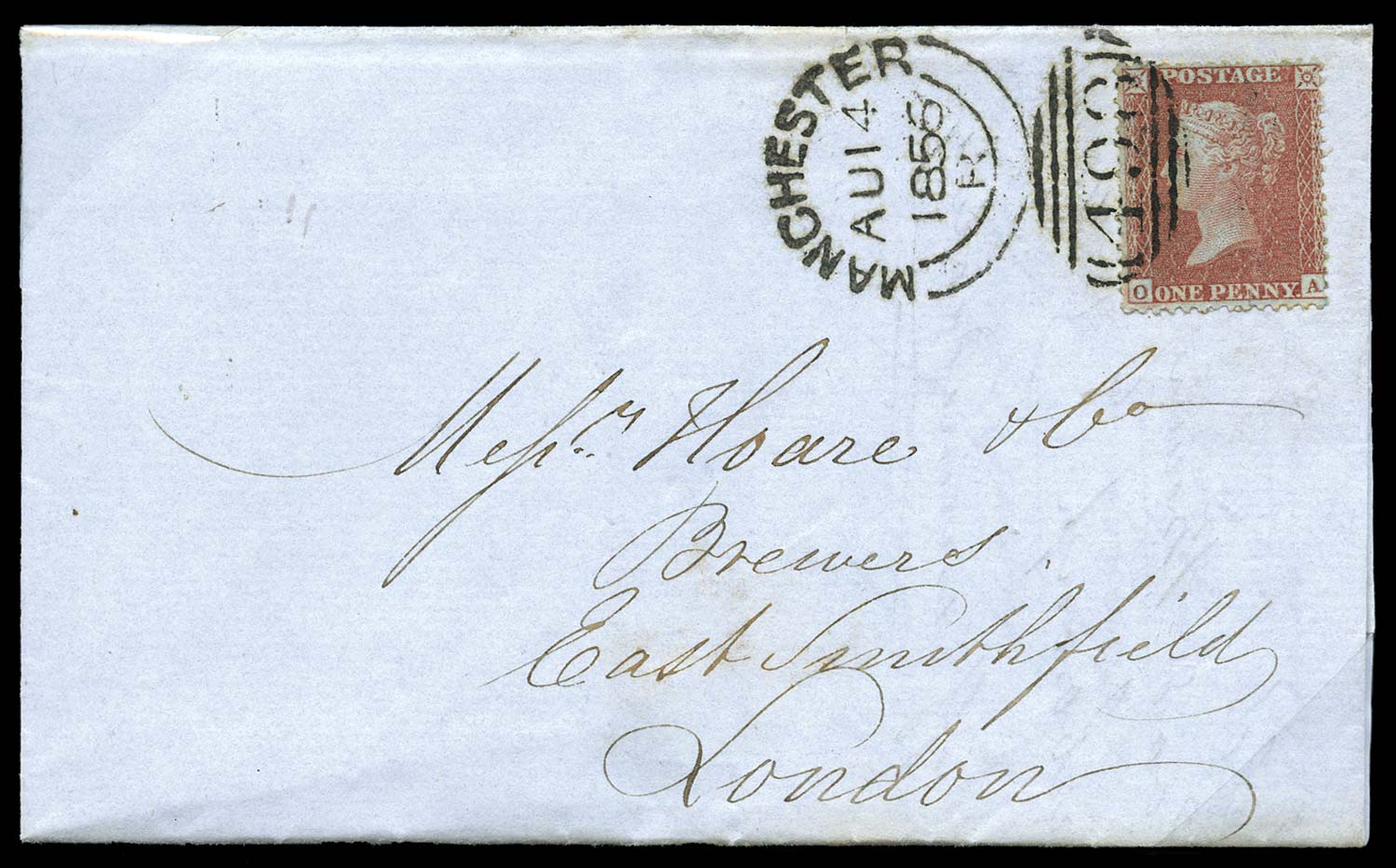 GB 1855  SG29var Pl.9 Cover
