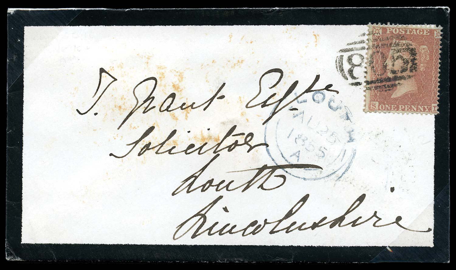 GB 1855  SG21 Pl.10 Cover