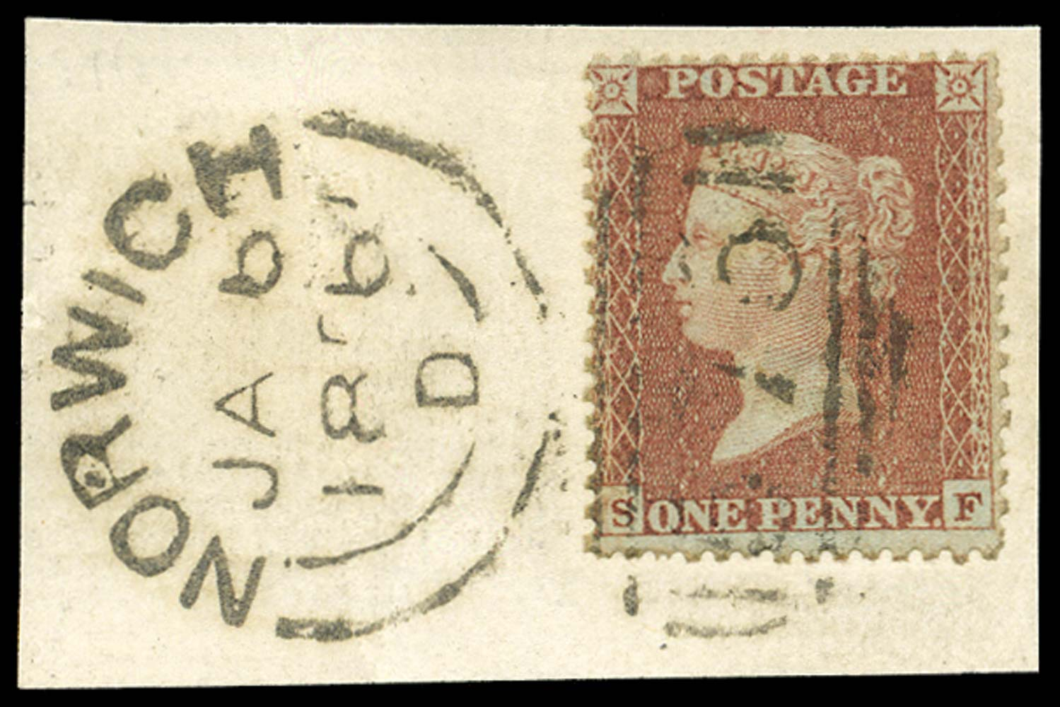 GB 1855  SG24 Pl.10 Used