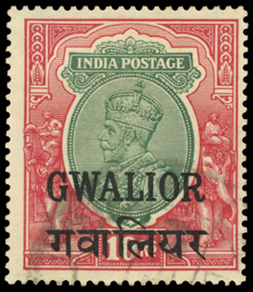 I.C.S. GWALIOR 1928-36  SG99 Used
