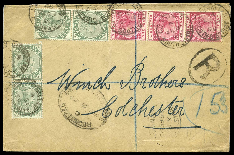 GIBRALTAR 1899  SG39, 40 Cover