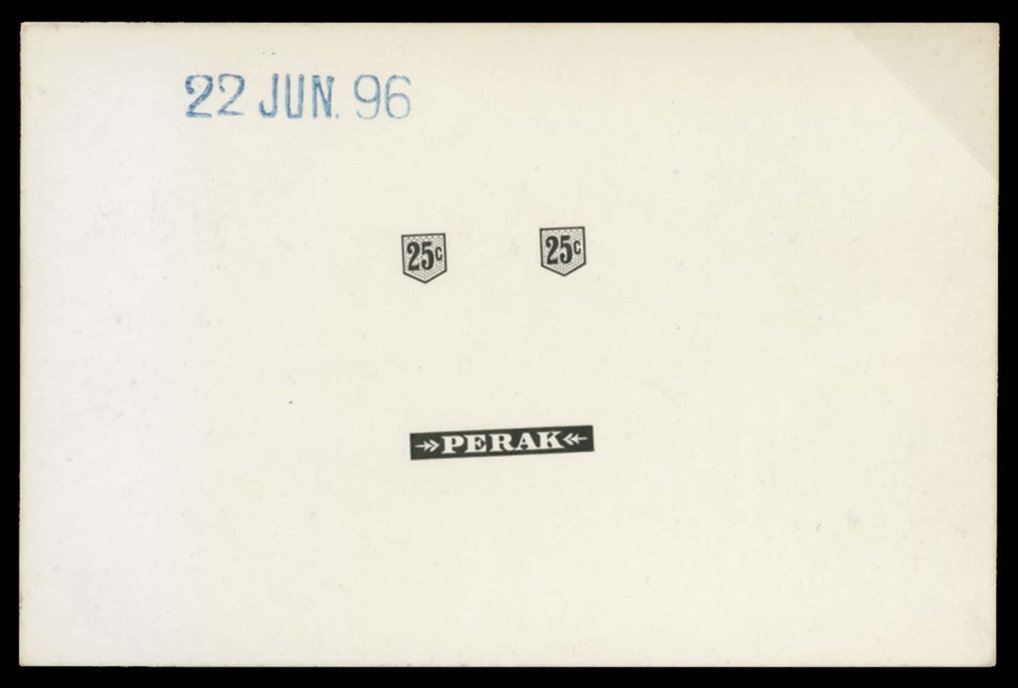MALAYA - PERAK 1895-9  SG73 Proof