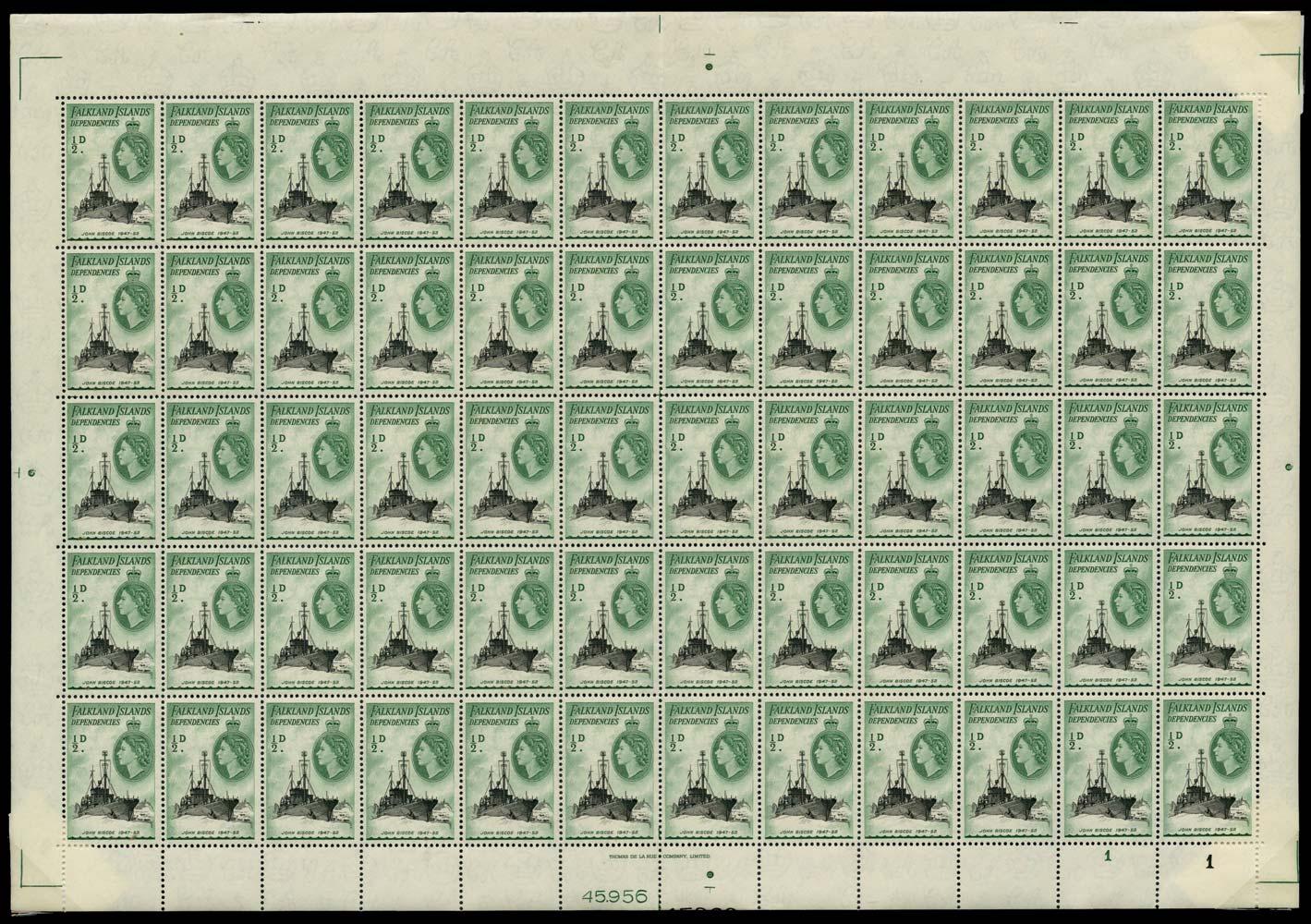 FALKLAND ISLAND DEPS 1954  SGG26a Mint