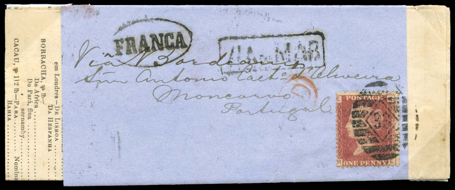 GB 1872  SG43 Pl.121 Cover