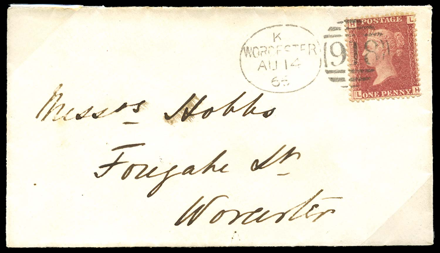 GB 1866  SG43 Pl.74 Cover