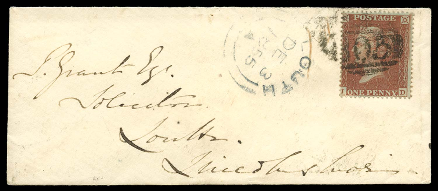 GB 1855  SG26 Pl.11 Cover