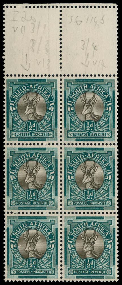 SOUTH AFRICA 1947  SG114cb Mint