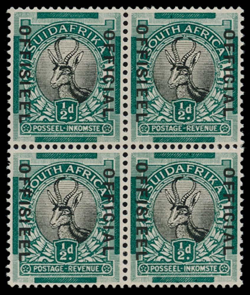SOUTH AFRICA 1930  SGO12/d Official