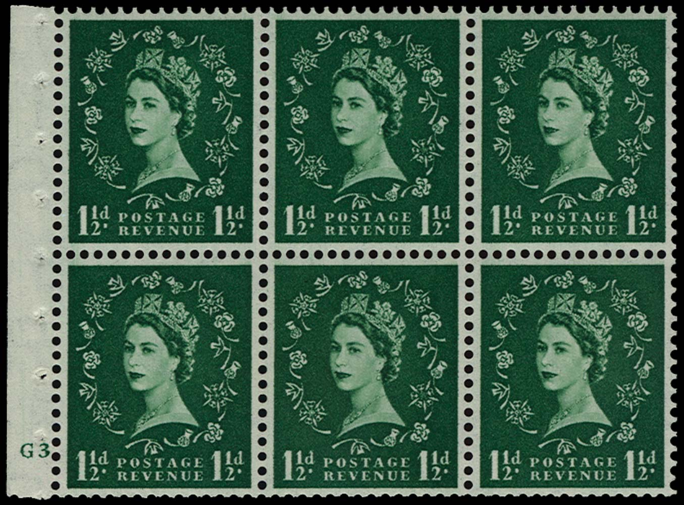 GB 1953  SG517 Booklet pane