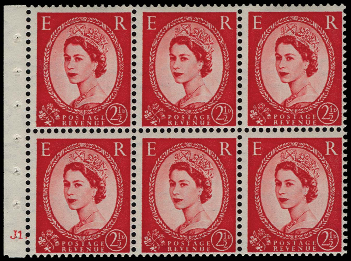 GB 1954  SG519 Booklet pane