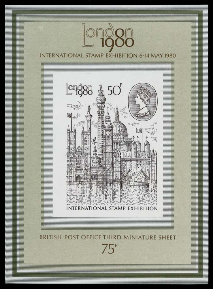 GB 1980  SGMS1119a Mint imperforate sheet
