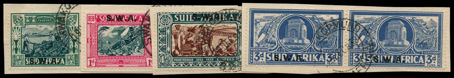 SOUTH WEST AFRICA 1938  SG105/8 Used