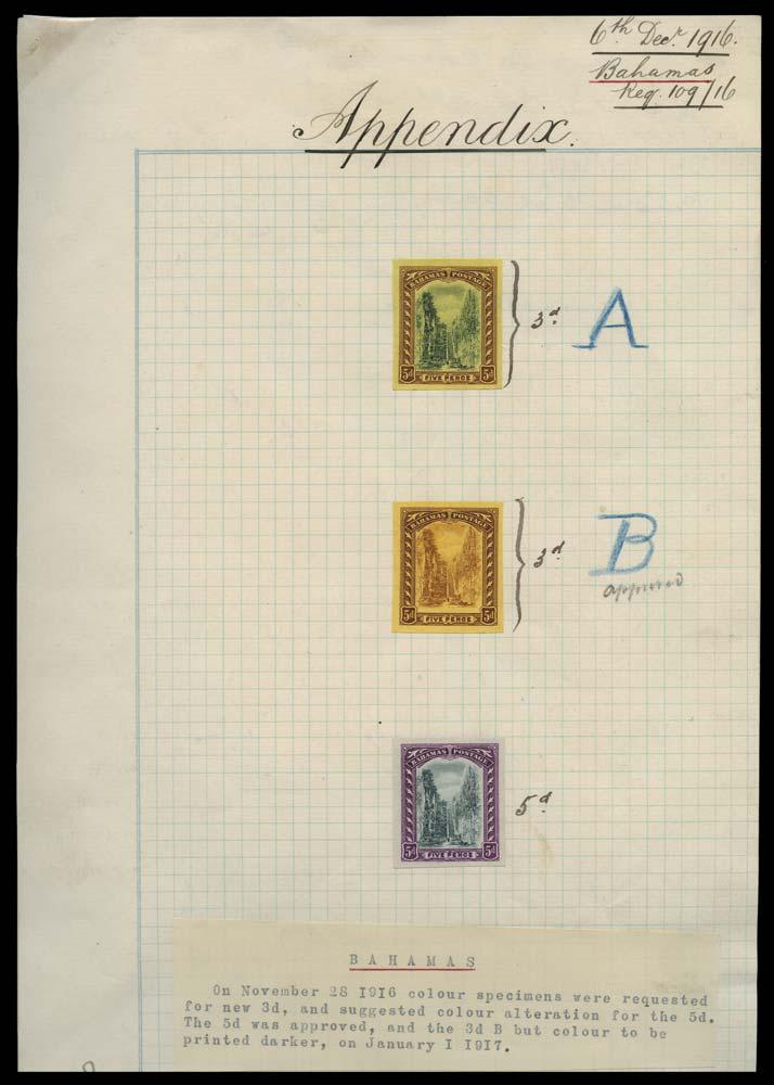BAHAMAS 1916  SG78 Proof