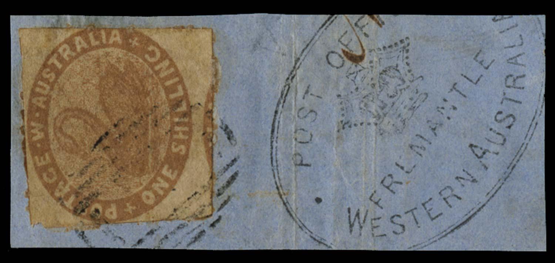 WESTERN AUSTRALIA 1854  SG4c Cancel