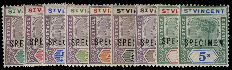 ST VINCENT 1899  SG67s/75s Specimen