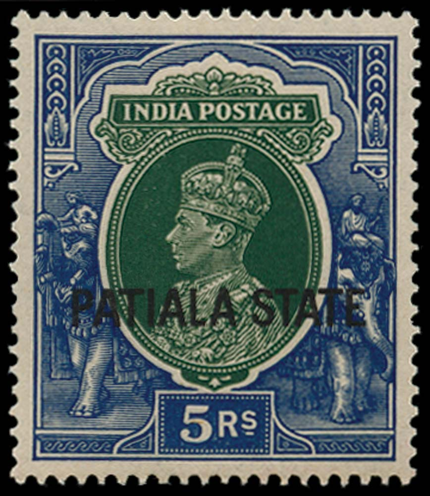I.C.S. PATIALA 1937  SG94 Mint