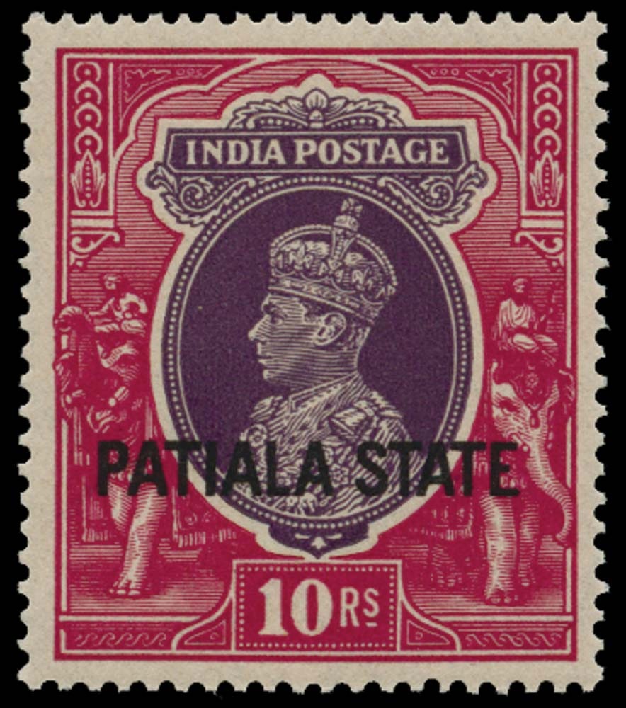 I.C.S. PATIALA 1937  SG95 Mint