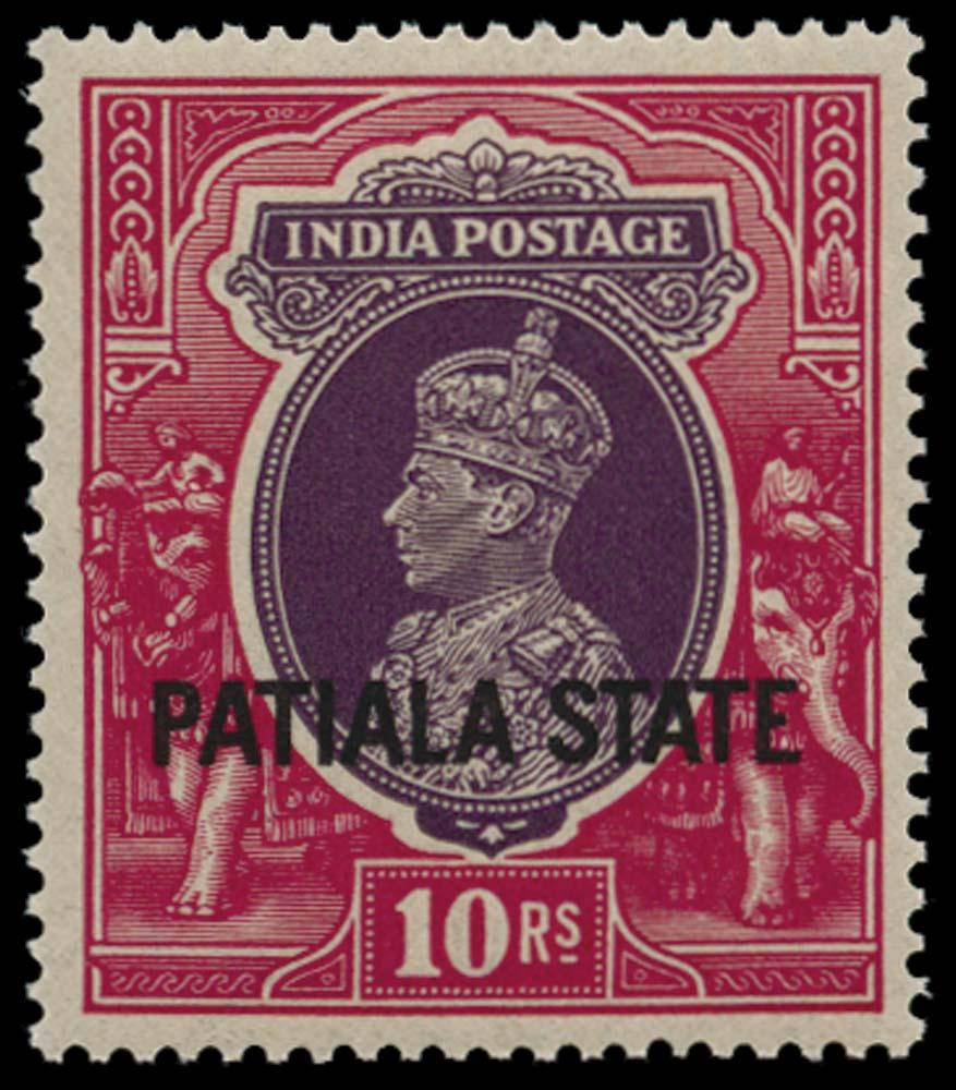 I.C.S. PATIALA 1937  SG95 Mint