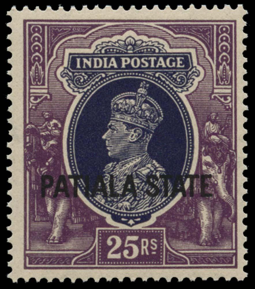 I.C.S. PATIALA 1937  SG97 Mint