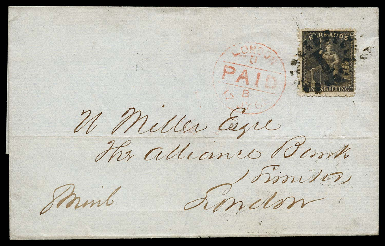 BARBADOS 1868  SG34 Cover