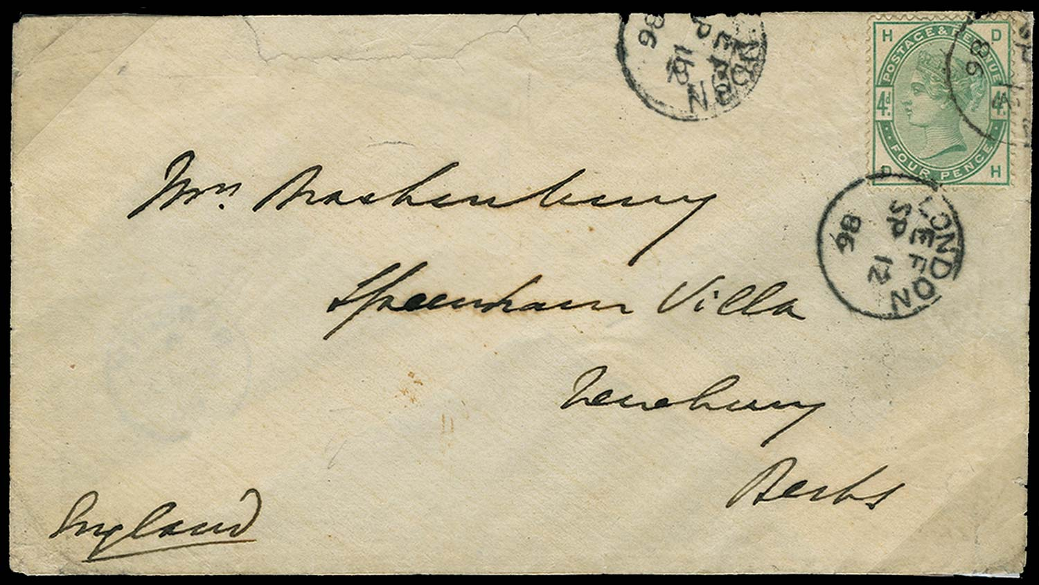 GB 1886  SG192 Cover