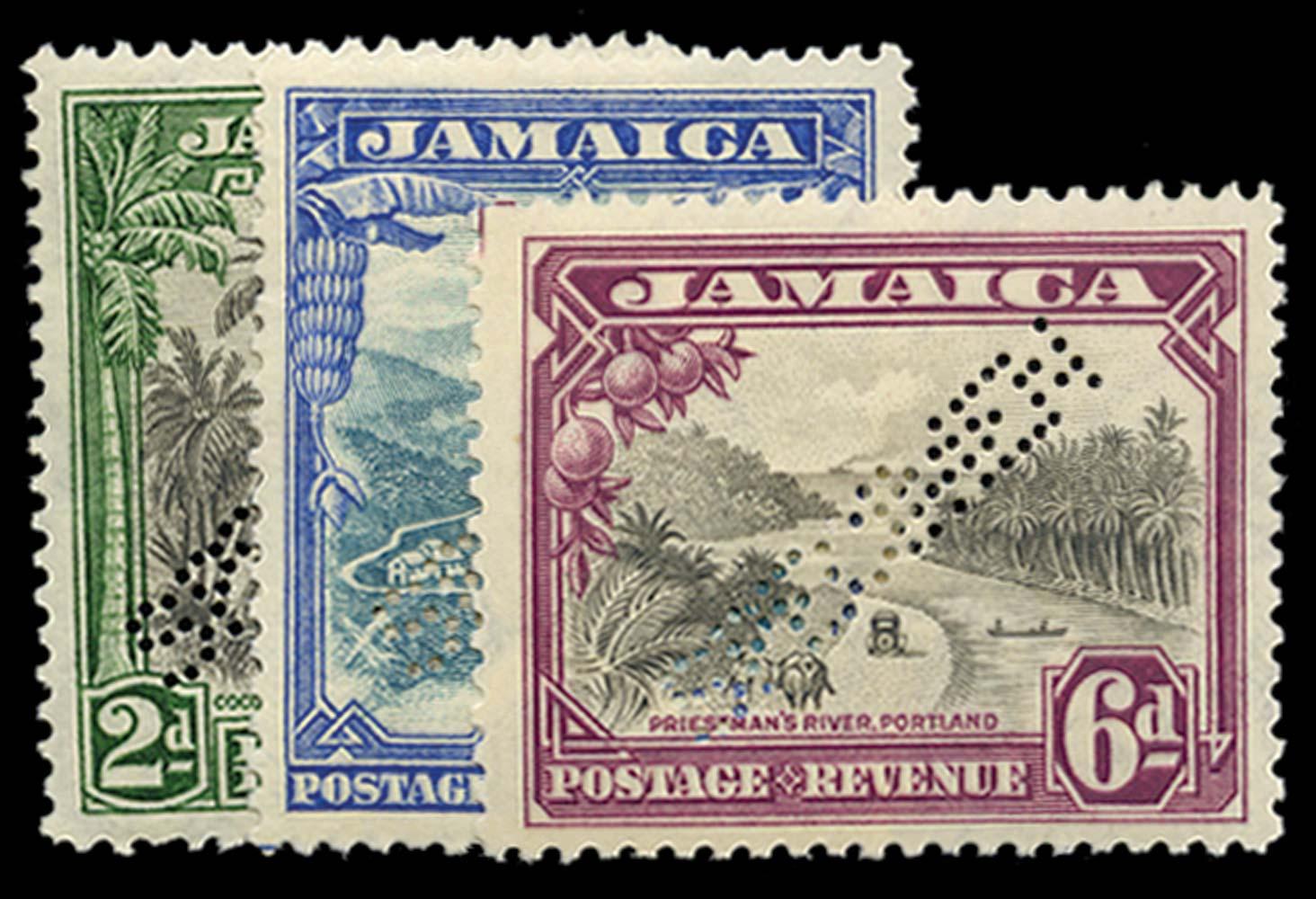 JAMAICA 1932  SG111s/3s Specimen