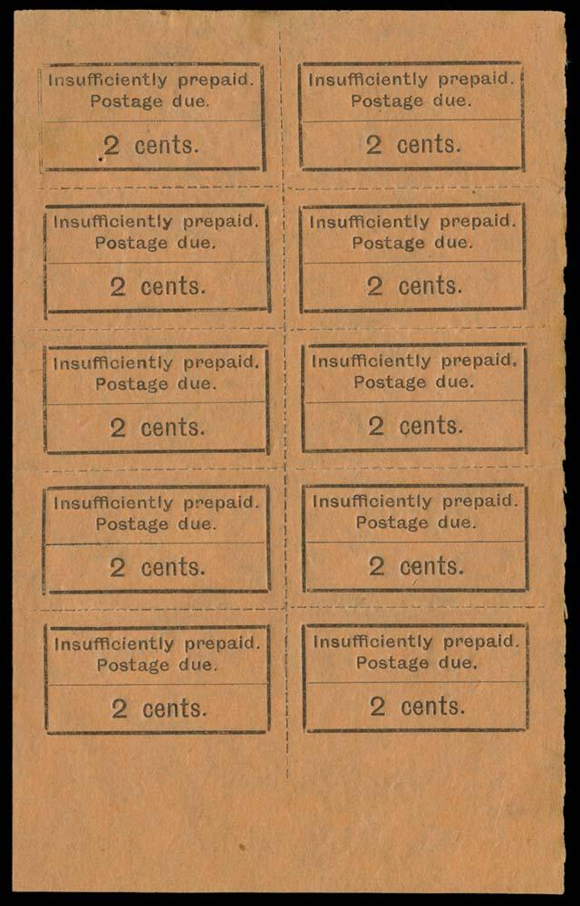 ZANZIBAR 1926-30  SGD2, var Postage Due