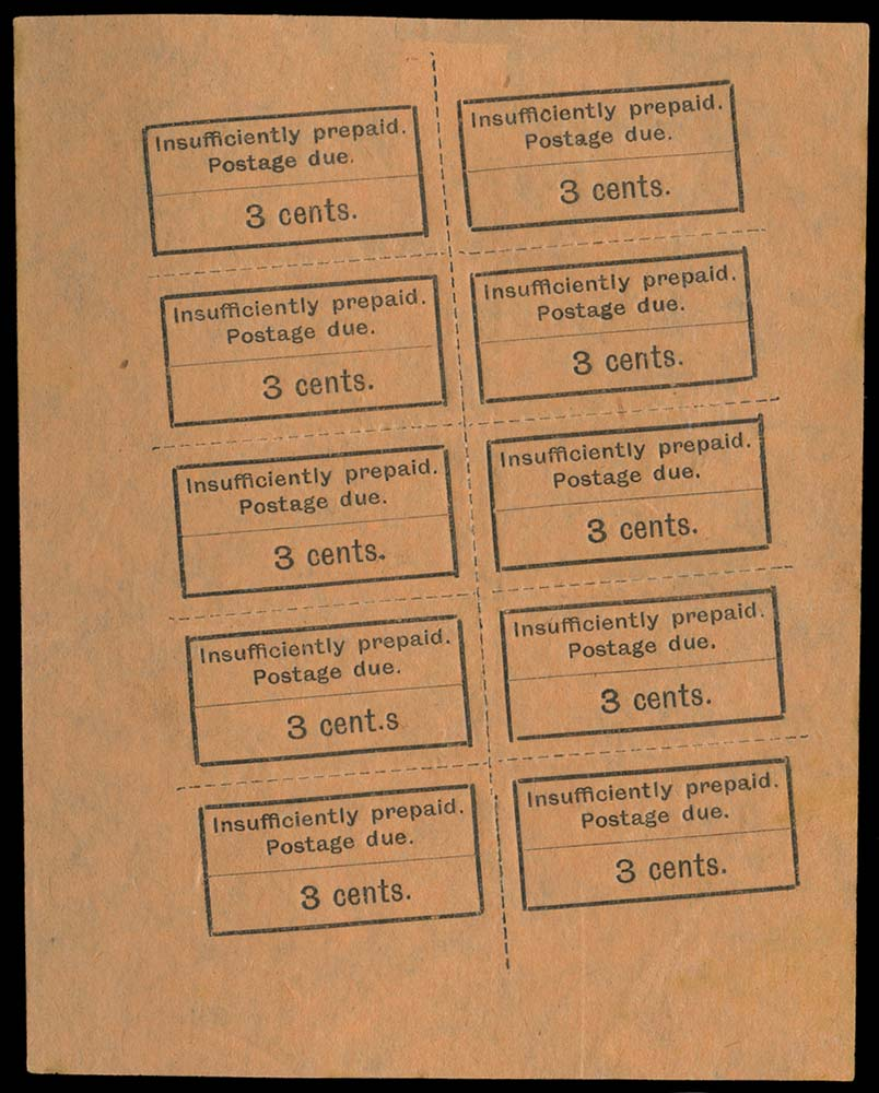 ZANZIBAR 1926-30  SGD3/a, var Postage Due