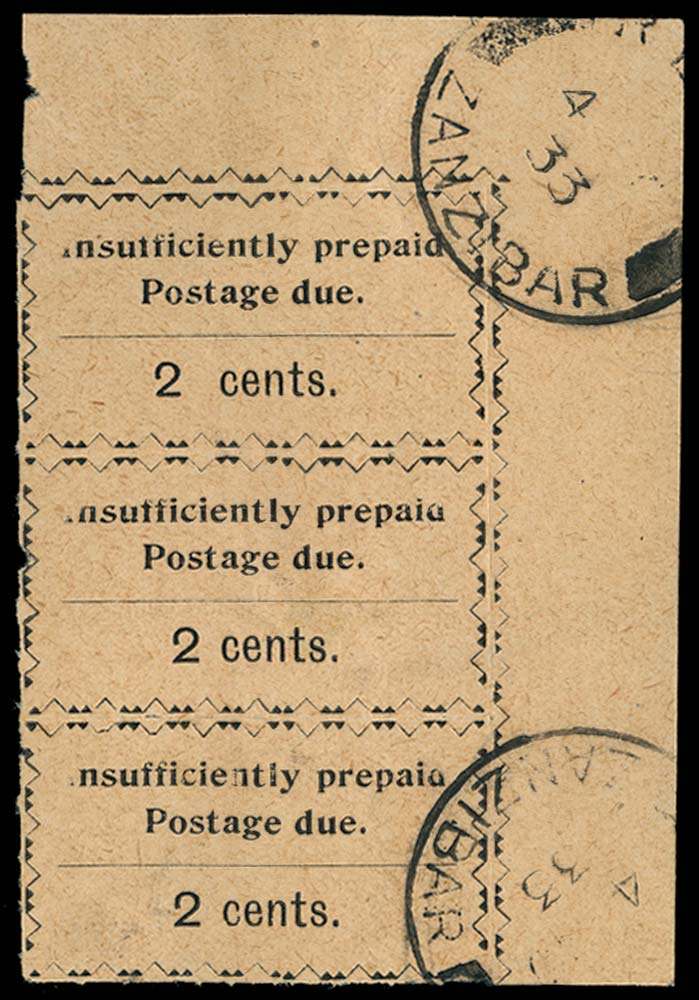 ZANZIBAR 1930-3  SGD18/a Postage Due