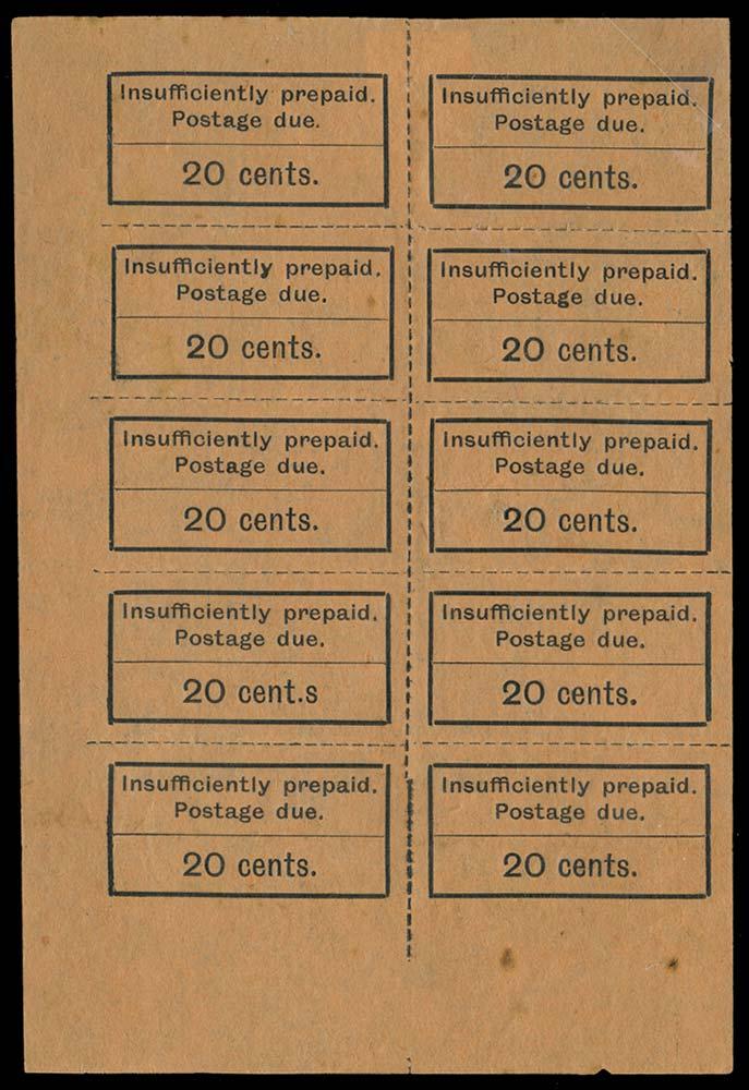 ZANZIBAR 1926-30  SGD11/a, var Postage Due