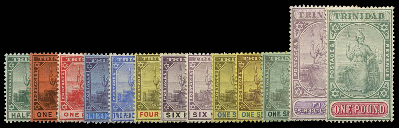 TRINIDAD 1904  SG133/45 Mint