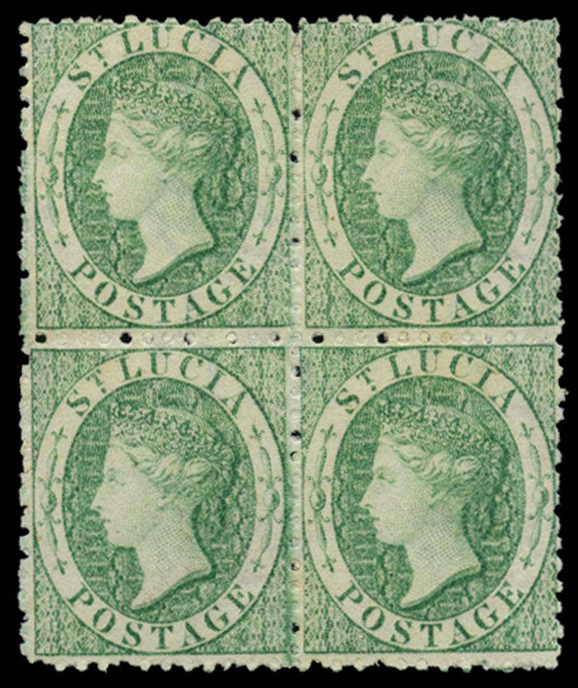 ST LUCIA 1863  SG8x Mint