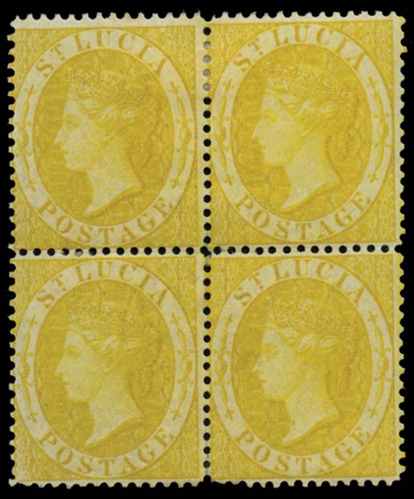 ST LUCIA 1864  SG16 Mint