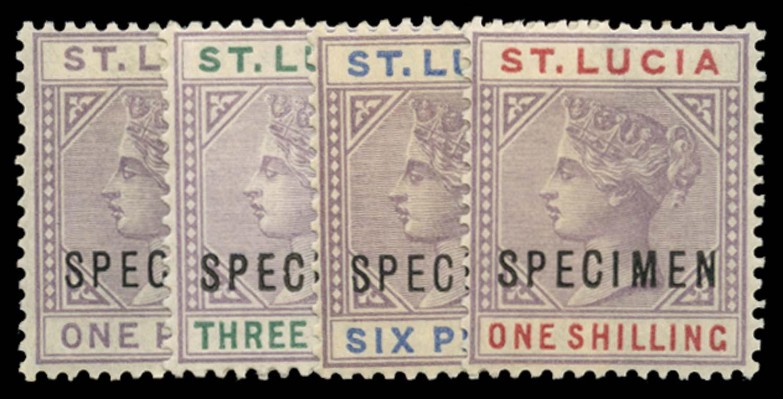 ST LUCIA 1886  SG39s/42s Specimen