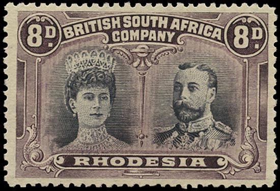 RHODESIA 1910  SG185var Mint