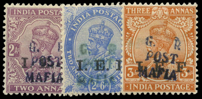TANGANYIKA 1915  SGM36/8 Mint