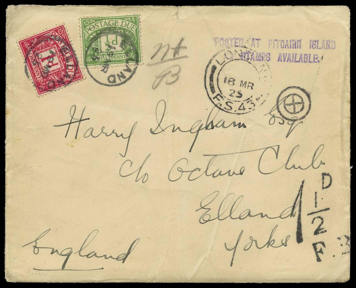 PITCAIRN ISLAND 1925  SGC3 Cover